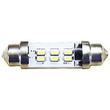 6 LED Festoon Slim Replacement Bulb 10-30v (12v or 24v) 0.9w 42mm Cool White