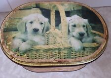 Vintage arnotts biscuit tin puppies