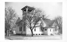 RPPC United Brethren Church La Crosse, Kansas Vintage KS Postcard ca 1950s