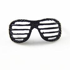 8 pcs Frosted Black Metal Eyeglasses Shaped Pendant DIY Jewelry 41x12x16 MM