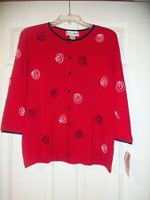 Cathy Daniels Sweater Top Size Medium NEW