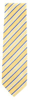 "New Finamore Napoli Yellow Striped Tie - 3"" x 56"" - (TIESTRX245)"