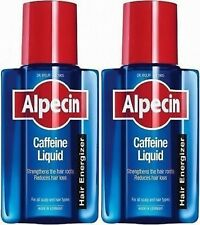 2X Alpecin Caffeine Hair Energizer liquid - 200ml + 2X FREE 15ml samples