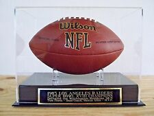 Football Case With A Los Angeles Raiders Super Bowl 18 Engraved Nameplate