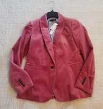 NEW WOMEN'S 00P 2 10 14 16 J CREW PARKE BLAZER IN DRIED ROSE PINK VELVET JACKET