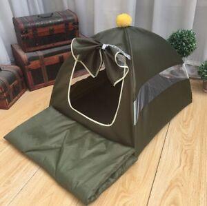 New Summer Pet Dog Cat Tent House Sofa Bed Cushion Mat Camp Tent Pink 4colors