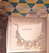 Stella & Dot Wanderer Necklace Silver🎗🎗