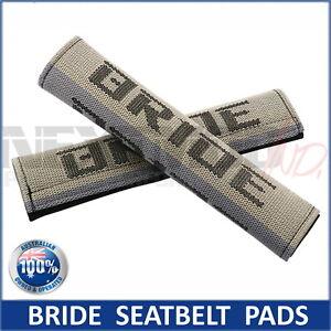 2 x JDM BRIDE GRADUATION SEAT BELT HARNESS COMFORT PAD, Pair, Takata Harness NEW