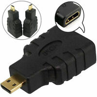 2x Micro HDMI Type D Male to HDMI Type A Female Adapter Convertor Connector