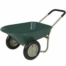 Best Choice Products Dual Wheel Home Wheelbarrow Yard Garden Cart