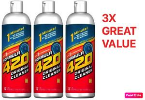 Formula 420 Glass Metal Ceramic Pipe Cleaner 12 Oz Bottles 3 Pack FREE SHIPPING