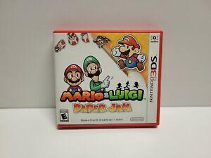 Mario & Luigi Paper Jam (Nintendo 3DS) Original Case & Manual Only