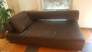 Echt Leder Couch Chrom Ledersofa 2 m W. Schillig Face anthrazit