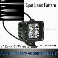 "Aurora LED 2"" Cube Off-Road Light Cree 10Wx4  40Watts-3200lm-1.5 Amp. Truck- Rzr"