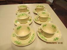 set of cups saucers  petite  adams titianware ada111 green floral