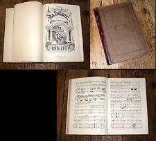 La favorite opéra en 4 actes de Donizetti partition piano chant 1880