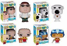 "Funko FAMILY GUY 4PC 3.75"" POP FIGURE SET Peter - Brian - Stewie - RayGun Stewie"