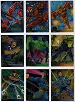 1995 Marvel X-Men Flair Annual Chromium Card Insert Finish You Pick Set Your Set