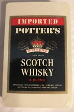 Potter's Scotch Whisky Deck Of Playing Cards, New In Wrap, Imported, A Blend