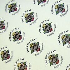 """Full Color Labels Custom Printed 1"""" Round 5000 Business Stickers White Removable"""