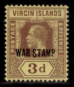 BRITISH VIRGIN ISLANDS EDVII SG79, 3d purple/yellow, M MINT.
