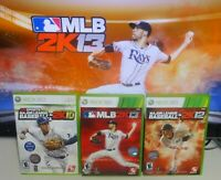 MLB 2K13 2K12 2K10 Xbox 360 Complete Tested SAME DAY SHIPPING