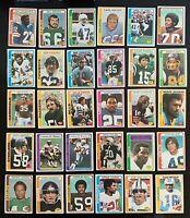 Lot of 30 1978 Topps Football Cards w/ Staubach, Dorsett NFC Champ./Super Bowl