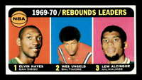 1970 Topps #5 Elvin Hayes/Wes Unseld/Lew Alcindor LL EXMT X1499450