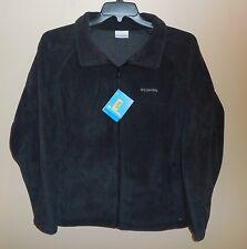 New Womens Size 2X COLUMBIA Benton Springs Full Zip Fleece Jacket Black Nwt Coat