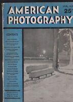 AMERICAN PHOTOGRAPHY Magazine January 1939 Riccardo Moncalvo Snowy Night
