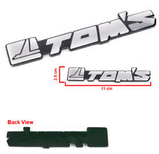 TOMS TOM'S RACING TOYOTA EMBLEM DECAL STICKER MOTOR SPORT AUTO RACING SILVER