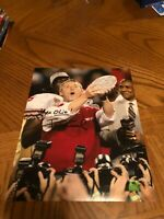 JIM TRESSEL OHIO STATE BUCKEYES SIGNED AUTOGRAPHED 8X10 PHOTO 2002 CHAMPS 1