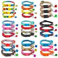 12pcs/lot Puppy Small Cat Dog Collars with Bell for Small Breeds Wholesale Lot