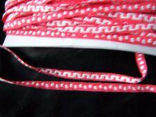 MERCERIE  galon rouge greque blanche100 cmx0.7cm@Rubbon