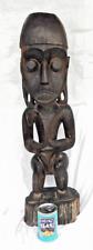 Enorme Ebano Africano Tomba Pennarello-pre 1900-RDC/CONGO