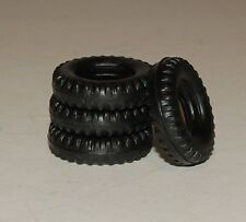 26-2 4  Black Rubber Tires for Dinky #965 Euclid Dumper