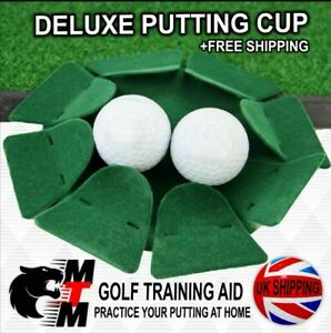 DELUXE PUTTING CUP / GOLF TRAINING AID / PRACTICE YOUR PUTTING AT HOME