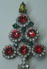 Christbaum Strass Brosche Weihnachtsbaum Christmas tree Brooch Gablonz Nr.56