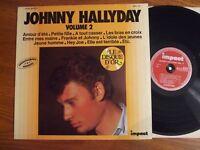 ALBUM ORIGINAL VINYL 33T JOHNNY HALLYDAY IMPACT VOLUME 2 EN SUPERBE ETAT EX