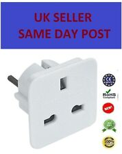 1XUK To EU Euro Europe European Travel Adaptor Plug 2 Pin Adapter *CE Approved*
