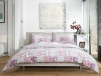 Stunning Patchwork Design Duvet Cover Set in Pink King Bed Size