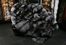 1301 Silver Fox Fur Blanket from Scandinavian Fur (SAGA Fur) Real Fox Fur Throw
