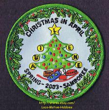 LMH Patch  2003 GOOD SAM CLUB  Spring SAMBOREE Rally CHRISTMAS April  ABILENE TX