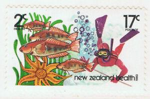 New Zealand #B108(1) 1980 17 + 2 cent UNDERWATER FISHING MNH