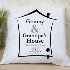 Grandparents House Personalised Cushion - a great gift for Grandma and Grandad