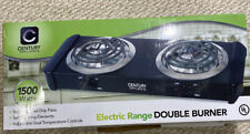 New In Box Century Electric Range Double Burner 1500 Watts