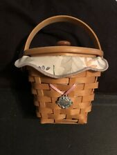 Longaberger 2001 Hope Basket Authentic Liner Protected + Plastic Protected Acs