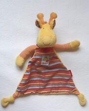 Sigikid Giraffe GIGI Schmusetuch Schnuffeltuch Kuscheltuch orange & rot wie NEU