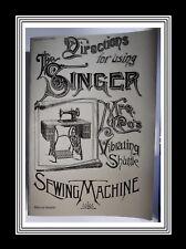 SINGER NAVETTA vibrante modello V.S.2 macchina da cucire manuale (manuale di 36 pagine)
