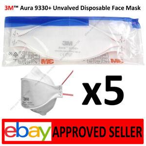 5x Respirator 3M 9330+  FFP3 Face MASK N99 No Rubber Latex